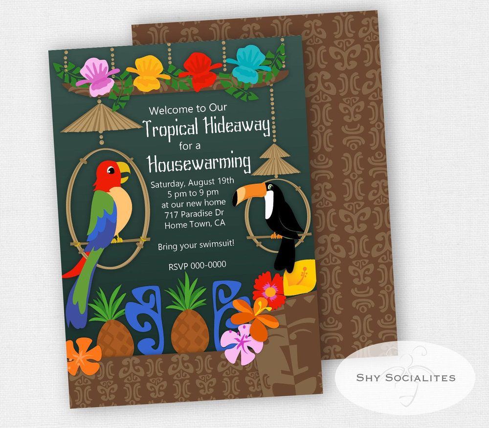 Tropical Hideaway Invitation