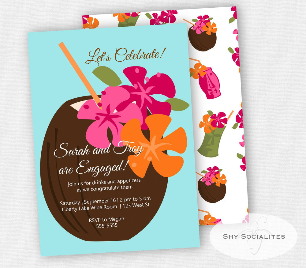 Tropical Drink Invitation