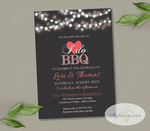 i do bbq chalkboard lanterns wedding invitation shy socialites