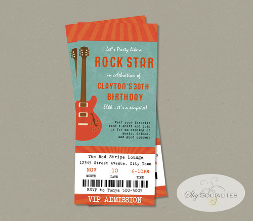 music festival concert ticket invitation shy socialites