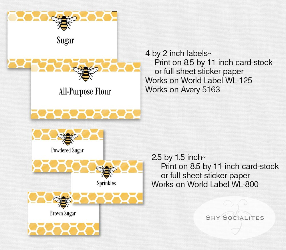 Bee Label Set