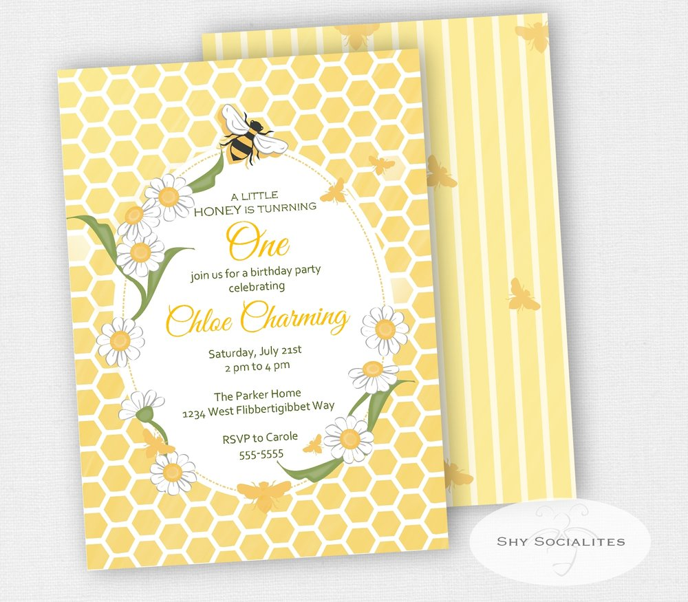 Bee Birthday Party Invitation — Shy Socialites