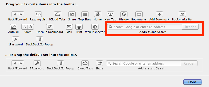 Attention to detail: this control within the Format Toolbar sheet in Safari changes depending on what your default search engine is set to.