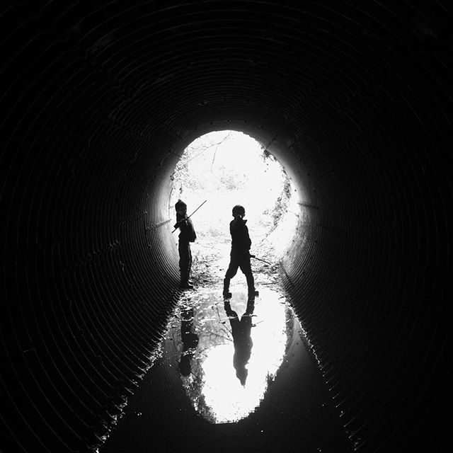 Flooded tunnel. (My wife's work, I'm just sharing it.)