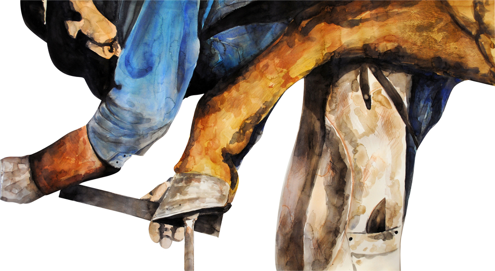 ★ Hierro Viejo      (24X45) watercolor (Spring 2011)