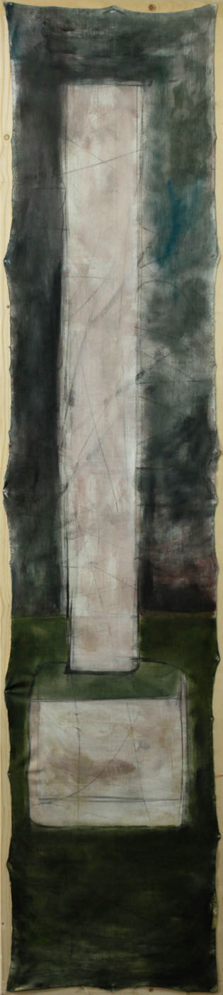 Chairpillar, 2011, 255x55cm, oil on canvas