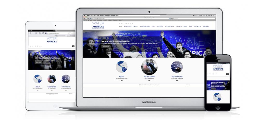 Responsive web design built with Wordpress