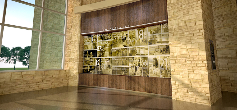 Concept rendering of the Legacy Hall Philanthropy exhibit