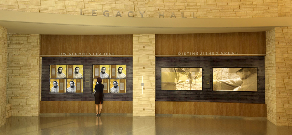 Concept rendering of the Legacy Hall | Notable Alumni and Areas of Distinction