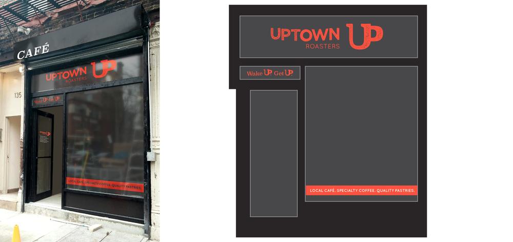Storefront design mockup
