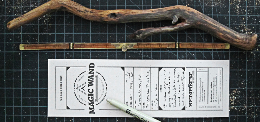 Our one-of-a-kind wands come with a certificate of authenticity.