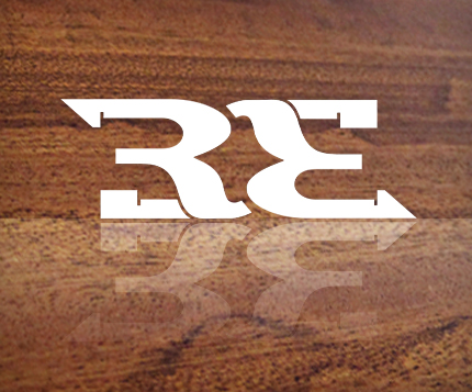 "The ""RE"" from Renaître serves as an abbreviated ambigram icon for the brand."