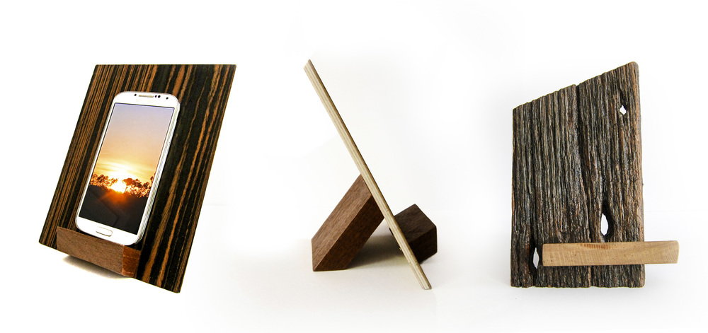 Various designs handmade with reclaimed wood.