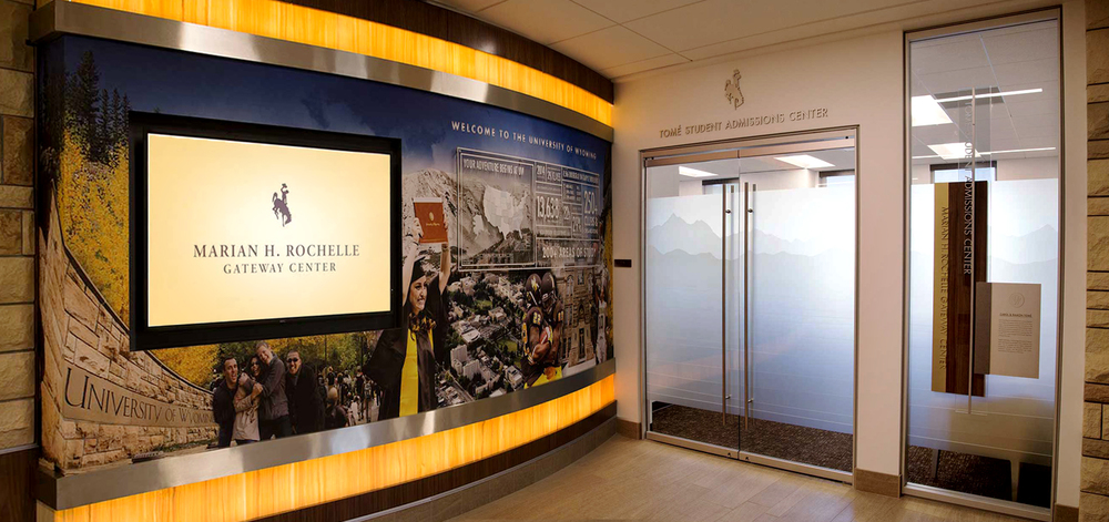 Installation image of the Tomé Student Admissions Center
