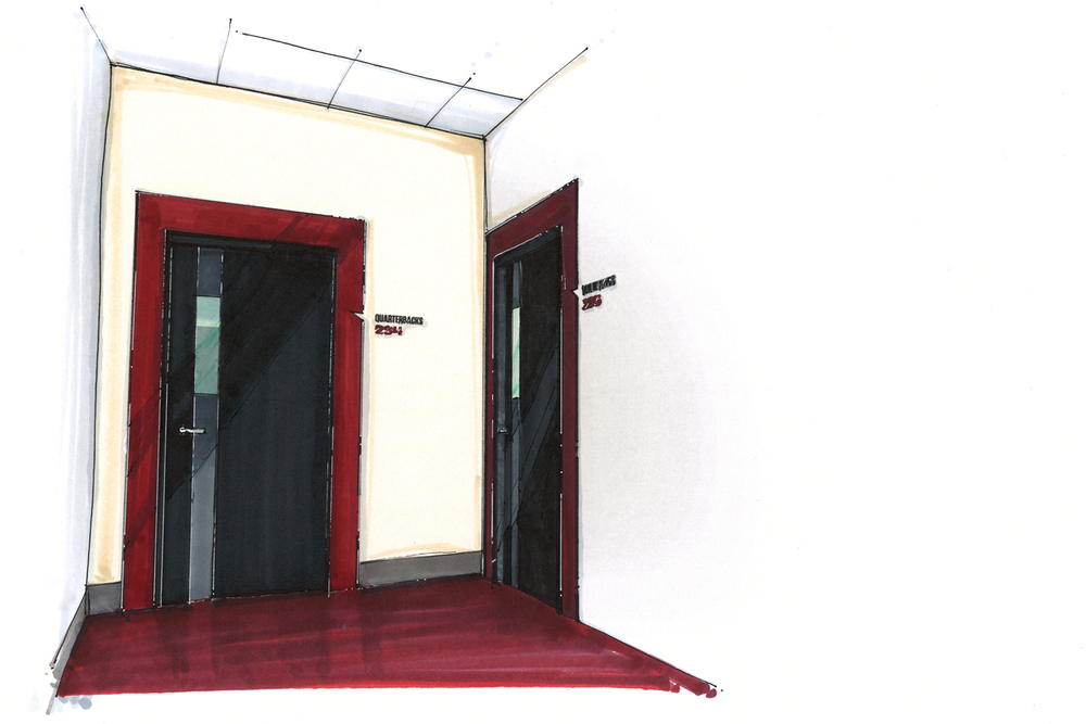 Meeting room entry concept design