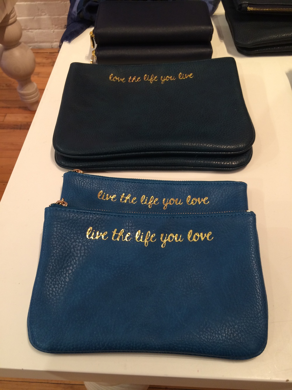 "Loving the quote on these - ""live the life you love"""