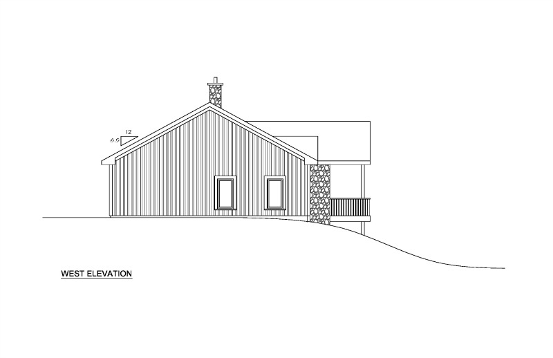 west elevation exterior home plan