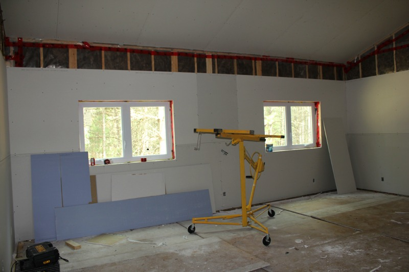 Master bedroom - the room faces the back yard which will be great for privacy.