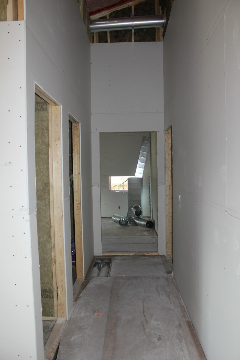 Hall way - we ensured the hall way is 4ft so it didn't look too narrow. This leads to the linen closest, bathroom, and 2 bedrooms.