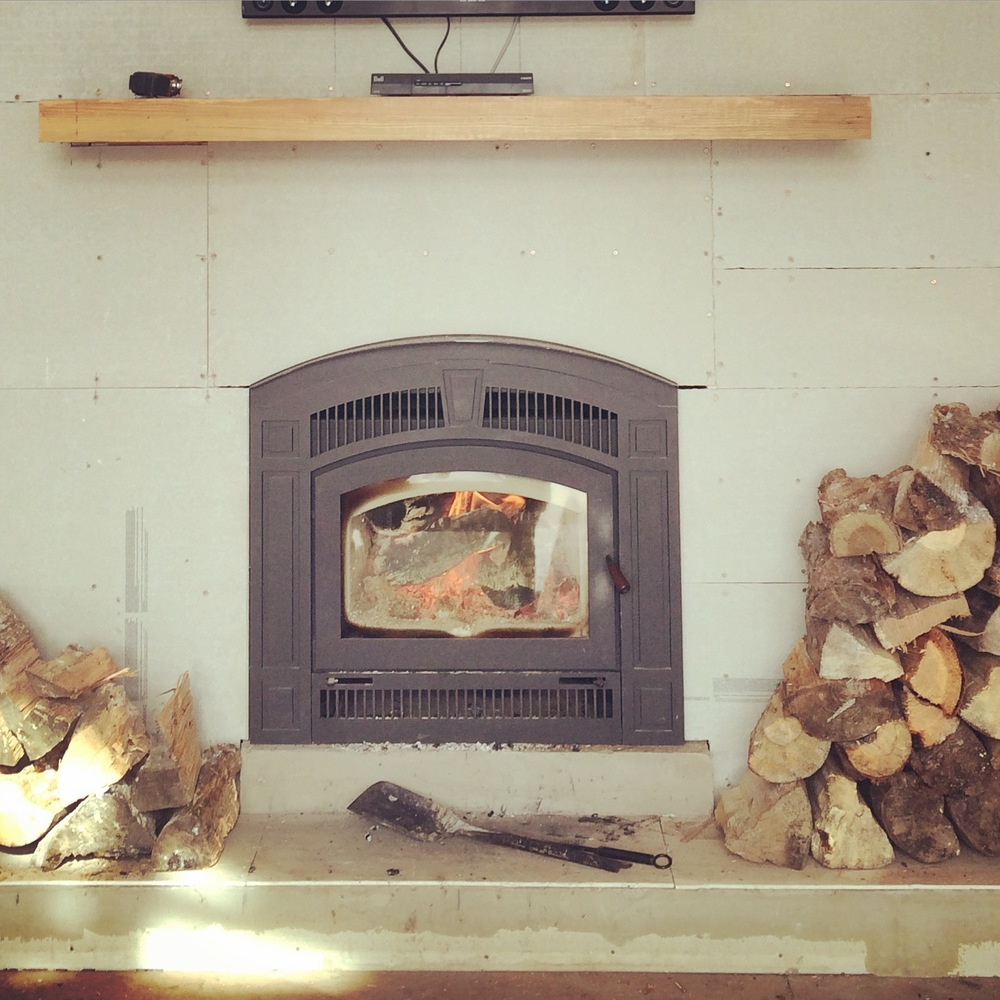 Real talk - we survived this winter with only our wood fireplace heating our house.