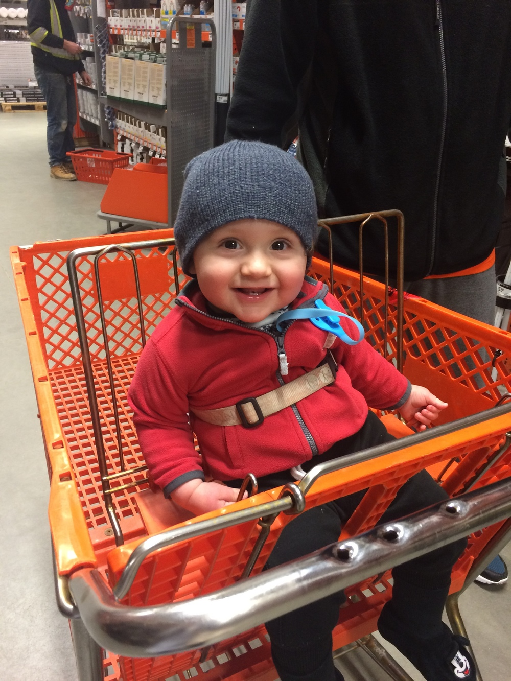 He will forever be a home renovation baby and a Home Depot customer.