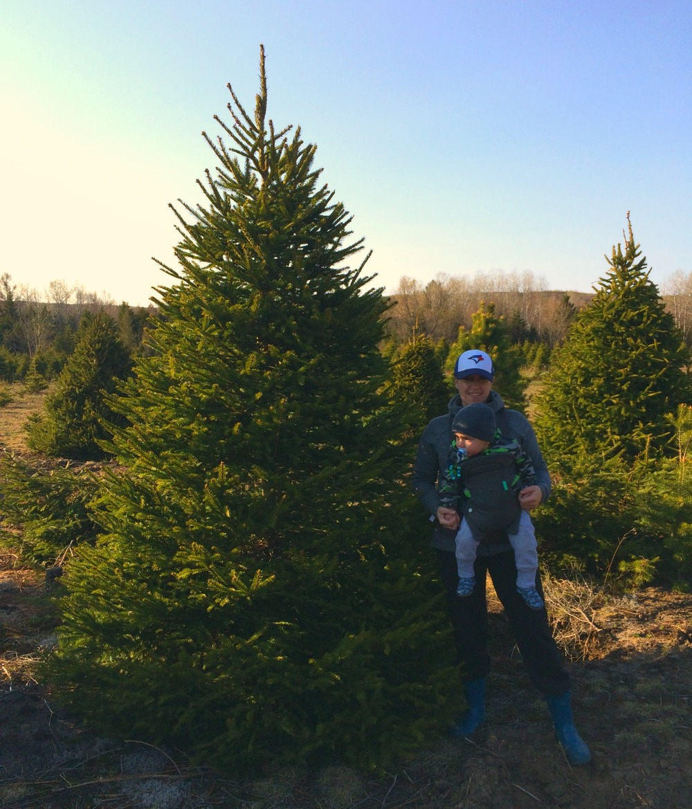 Mother's Day adventure included tree shopping.