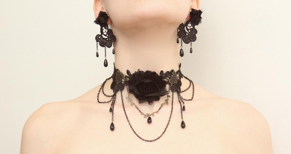 Black Trinket set