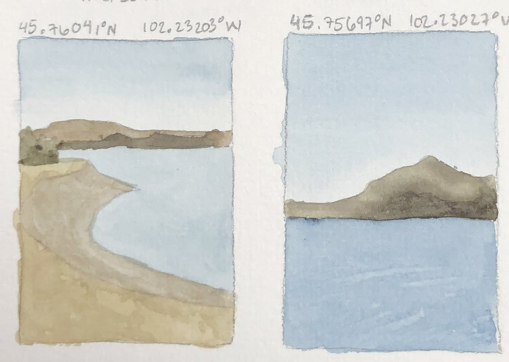 Some sketches to help me plan out what landscape I want to paint for the series.