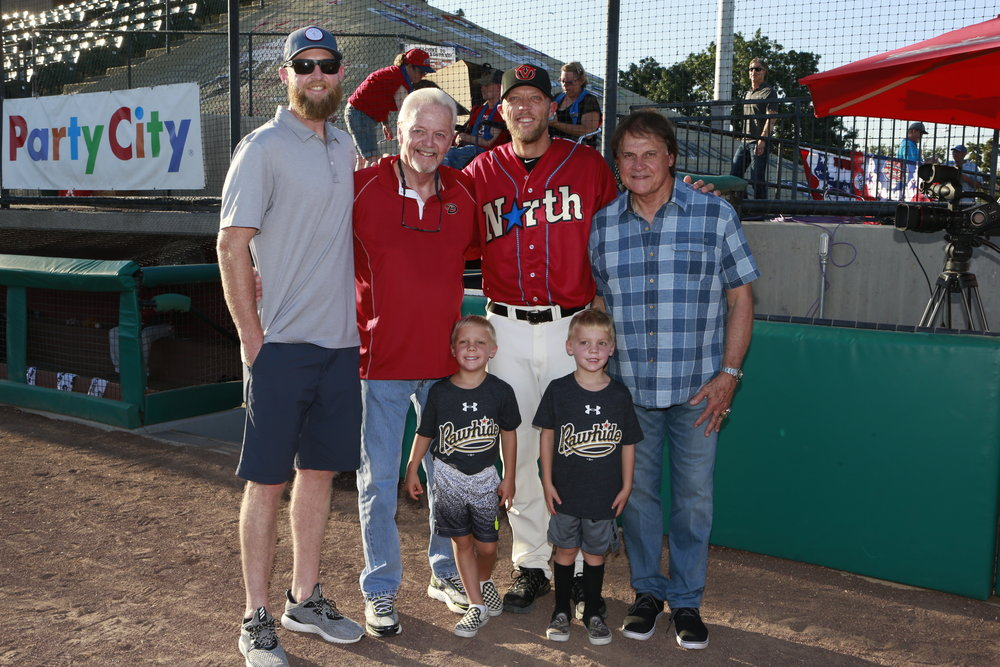 Shelley Duncan, Dave Duncan, Tony La Russa, and family.  Photo by Ken Weisenberger