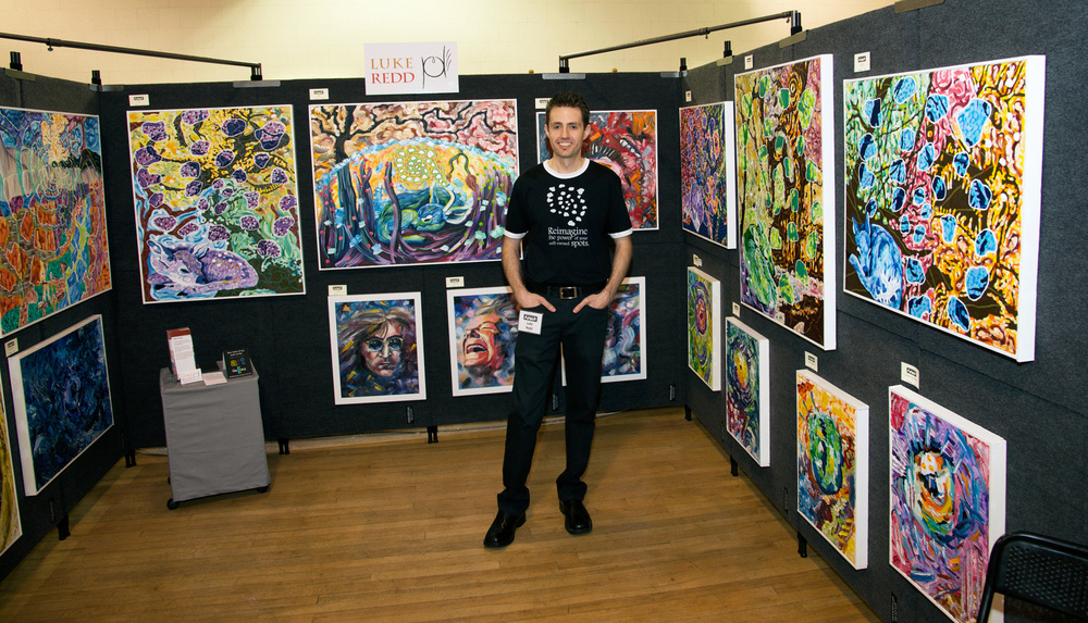 My booth at ArtWalk 2014.  Photo by Ched Gaglardi.