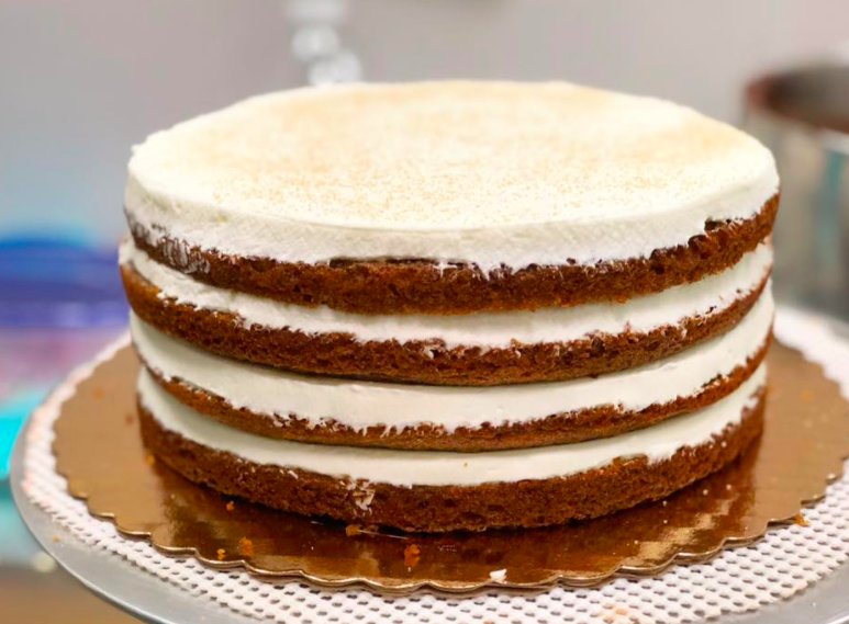 Pumpkin Whipped Cream Cake
