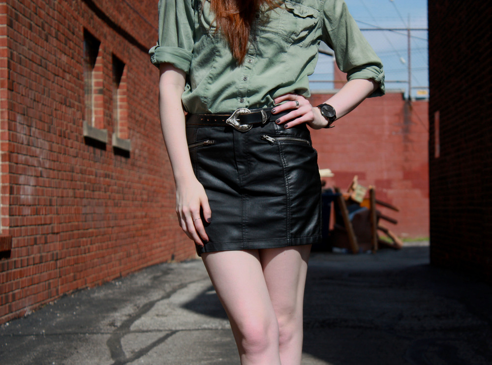 Hunt & Harvest Leather Skirt