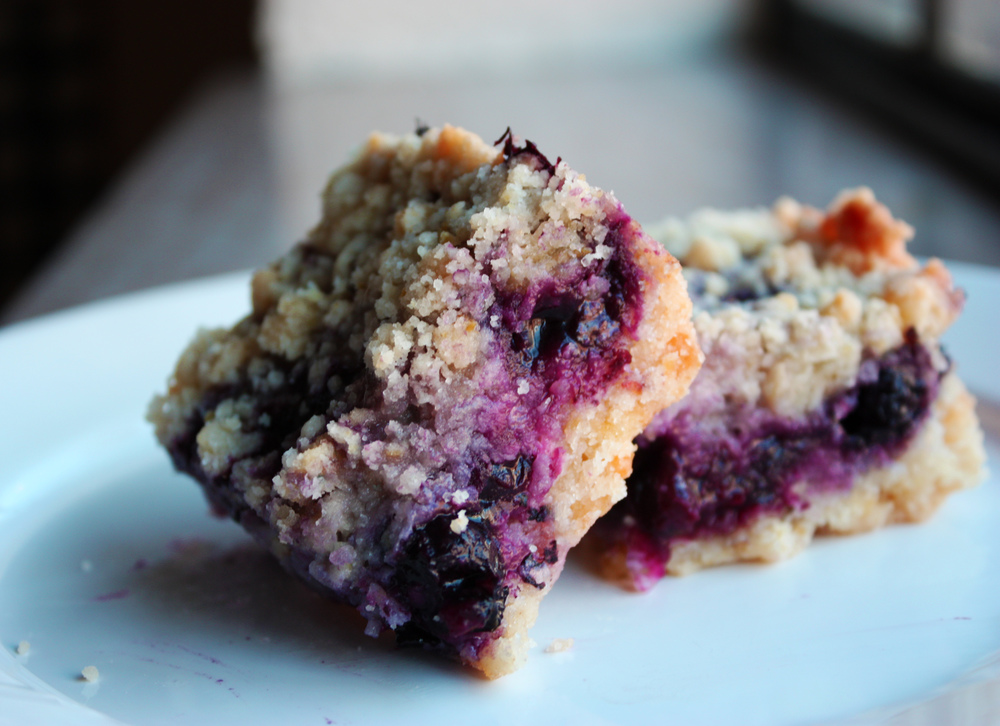 Blueberry Crumb Bars - Hunt & Harvest