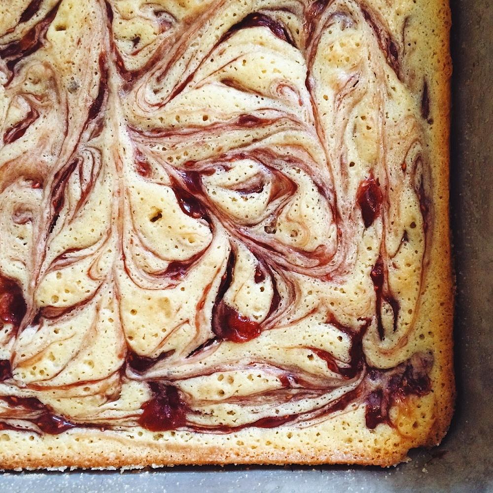 jam swirl butter cake