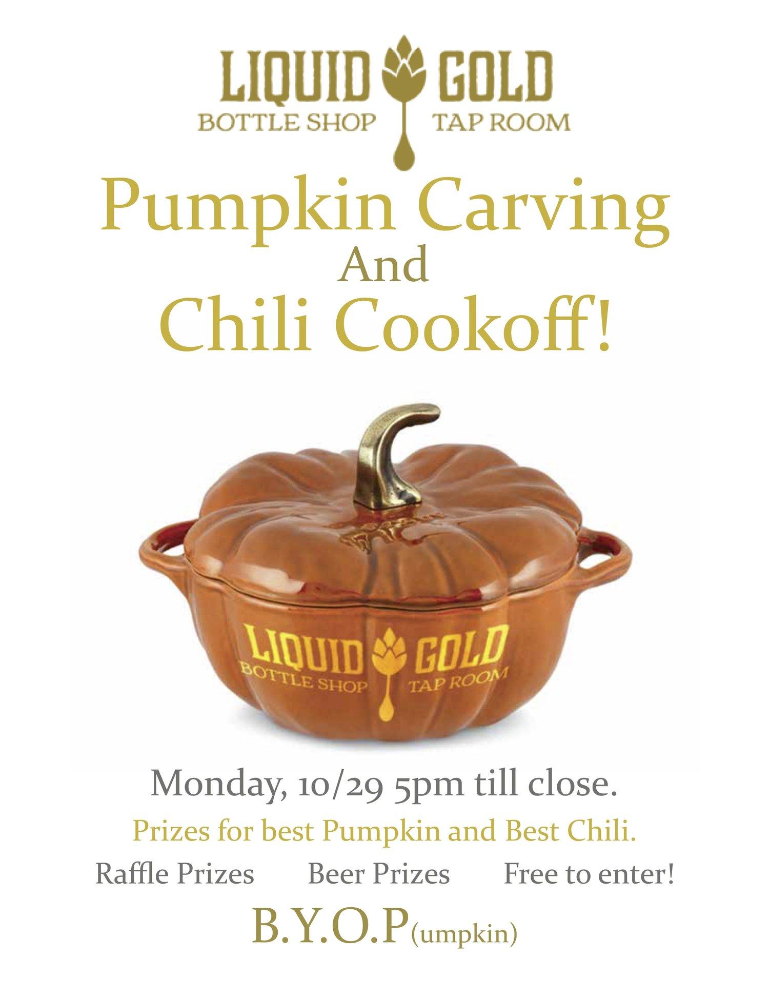 Annual Pumpkin Carving Contest & Chili Cook Off! — Liquid Gold