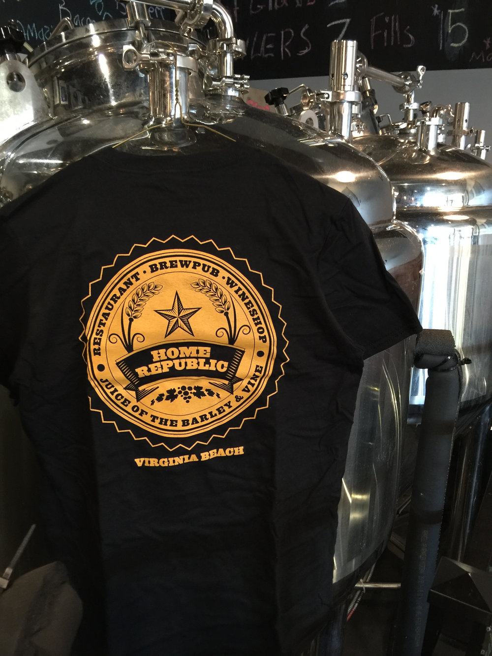 Drink Local Tshirt in Yellow.  Back.  Sizes: S, M, L, XL, 2XL. $15 + Shipping