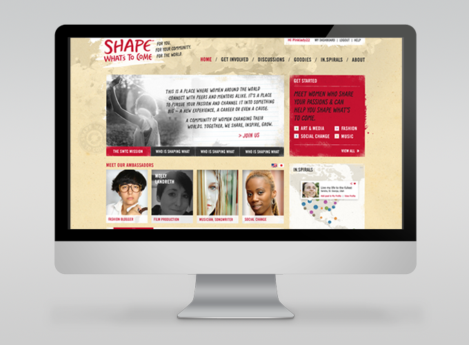 Final direction; website design -landing page.