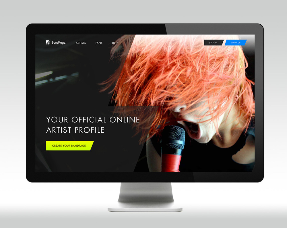 Homepage redesign - focus on powerful imagery representing live performance,egdy graphical style and sparse approach tocopywritingin a bold, directtone.