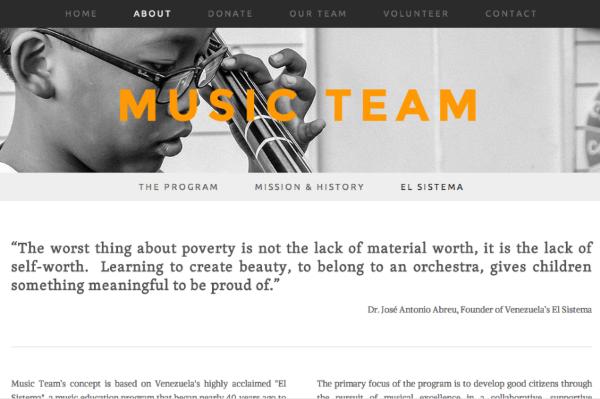 MUSIC TEAM (EDUCATIONAL NON PROFIT)