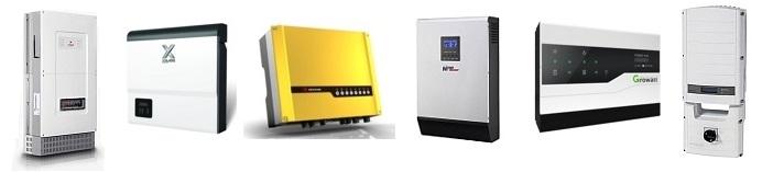 Various solar hybrid inverters