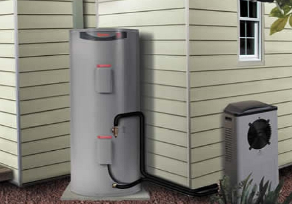 Efficient heat-pump hot water unit