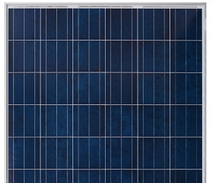 Typical polycrystalline solar panel with the ligher blue flakey appearance