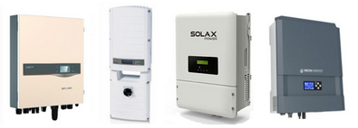A few of the common all-in-one hybrid (solar/battery) inverters available