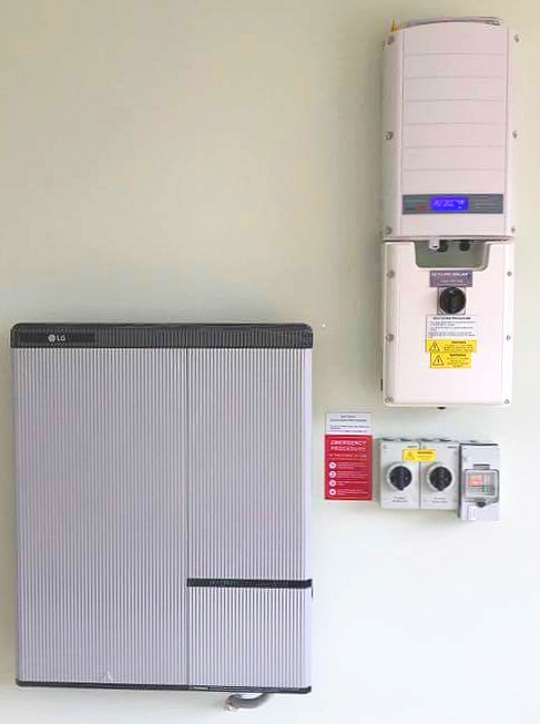Hybrid system using a SolarEdge inverter and LG chem battery - Installed by  Skyline Solar