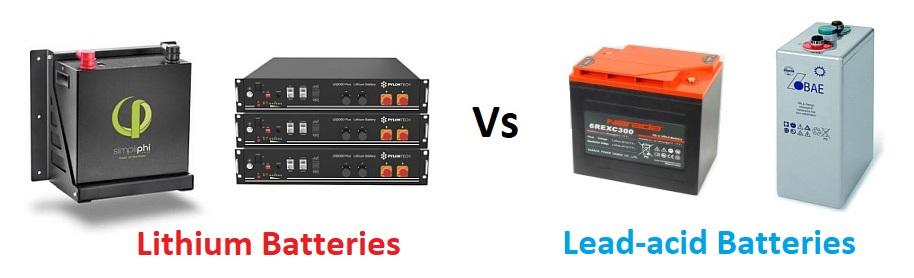 Lithium Vs lead-acid batteries — Clean Energy Reviews