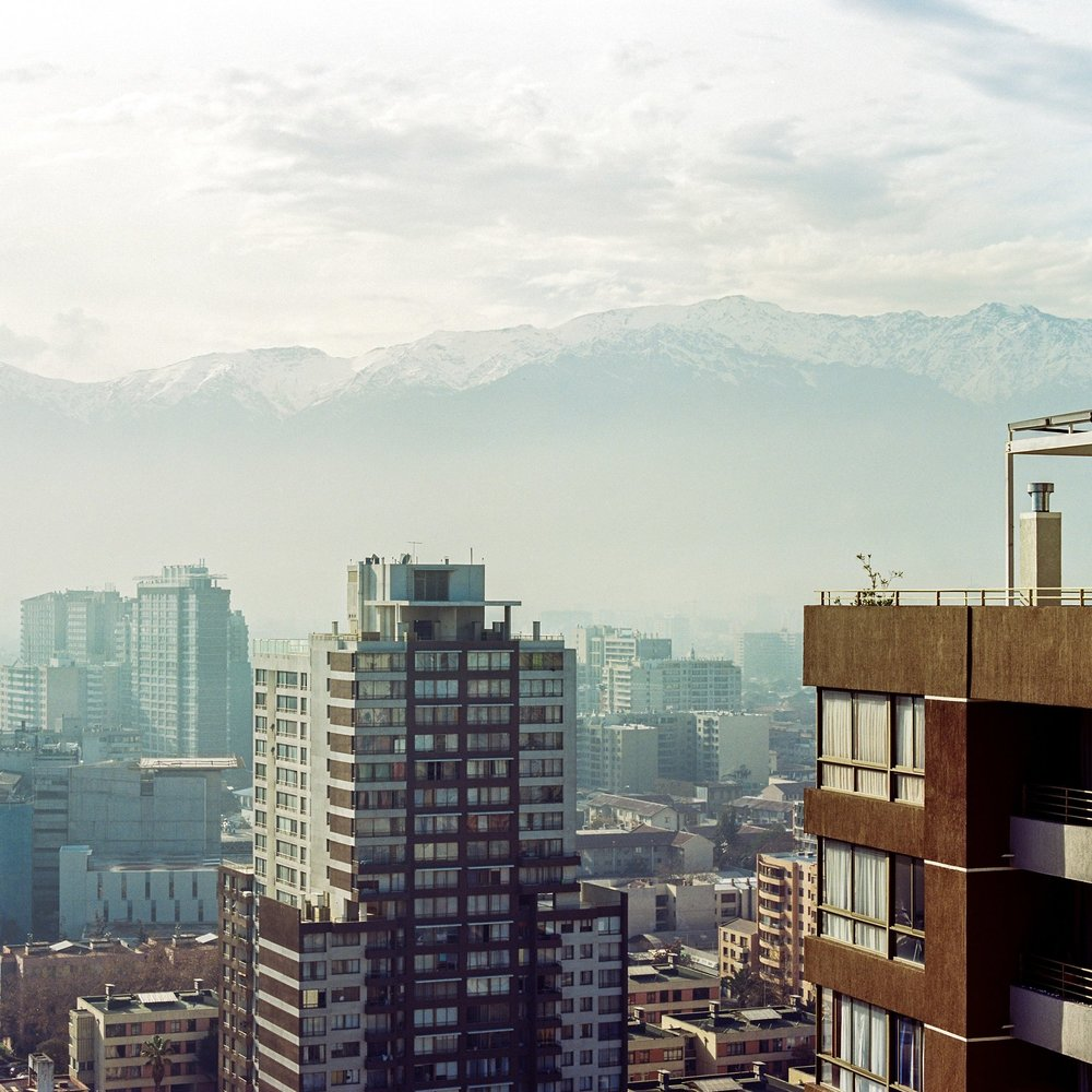 The view from my sister's apartment in Santiago, Chile a few years back.  Mamiya RZ67, Portra 400
