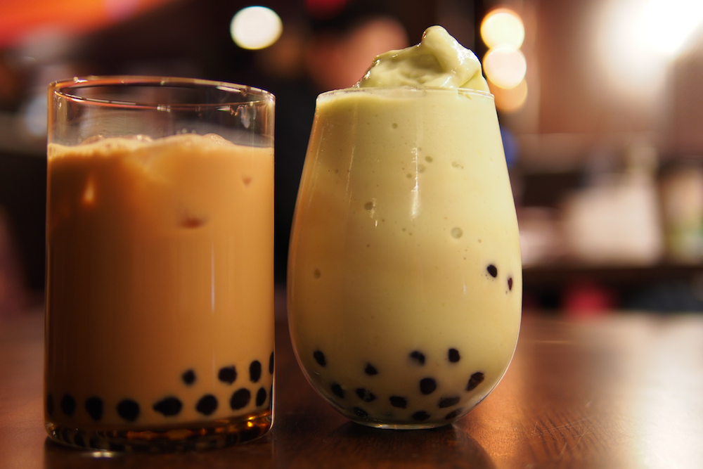 Thai Tea & Avocado Slush with Honey Boba