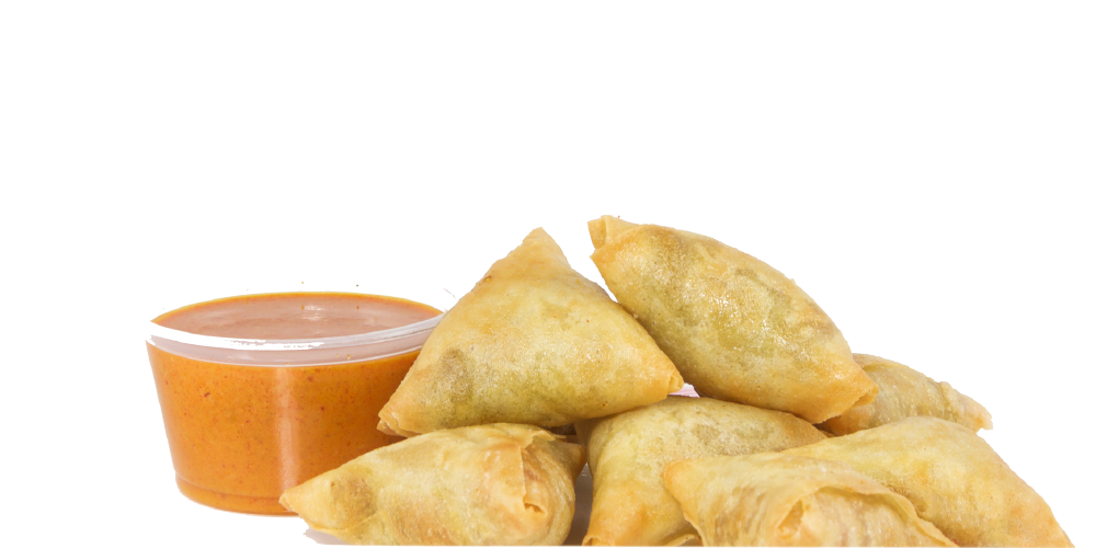 SAMOSAS WITH CURRY SAUCE