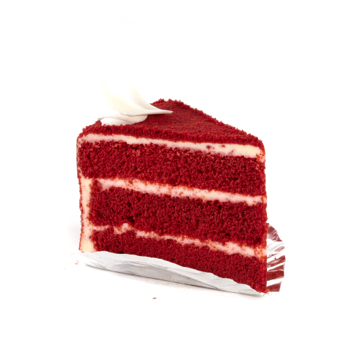 Red Velvet Wedding Cake Slice
