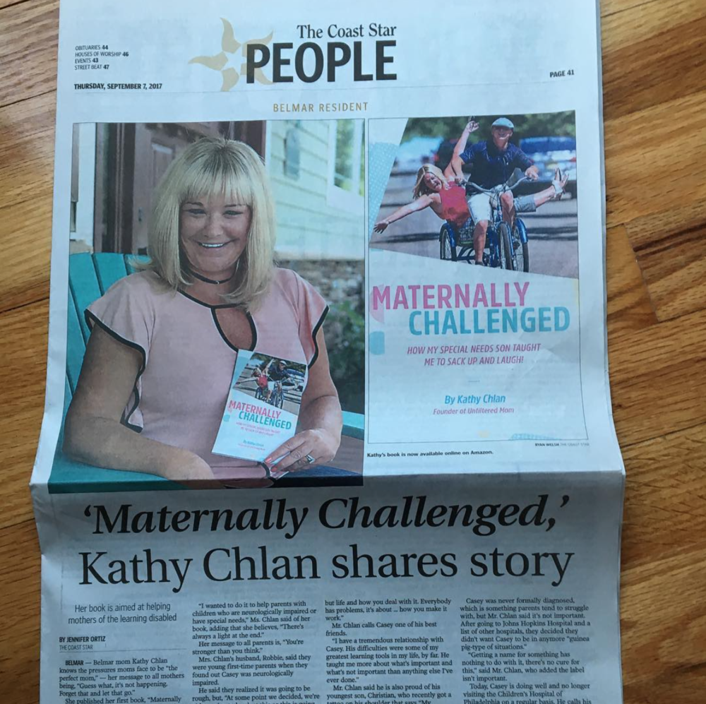 The Coast Star - Newspaper Article for 'Maternally Challenged' Book.